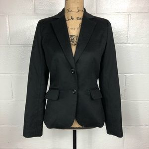 J. Crew Collection Wool Cashmere Blazer Black 4